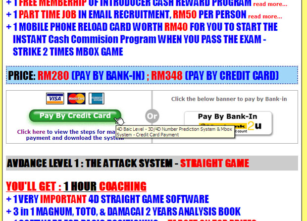lottery pick 4 course - steps payment by credit card